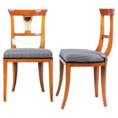 Set of Two Biedermeier Chairs, Germany, Cherry, circa 1820-1830