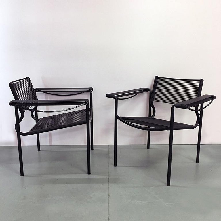Mid-Century Modern Set of Two Black Scooby Armchair by Giandomenico Belotti for Alias, 1970s For Sale