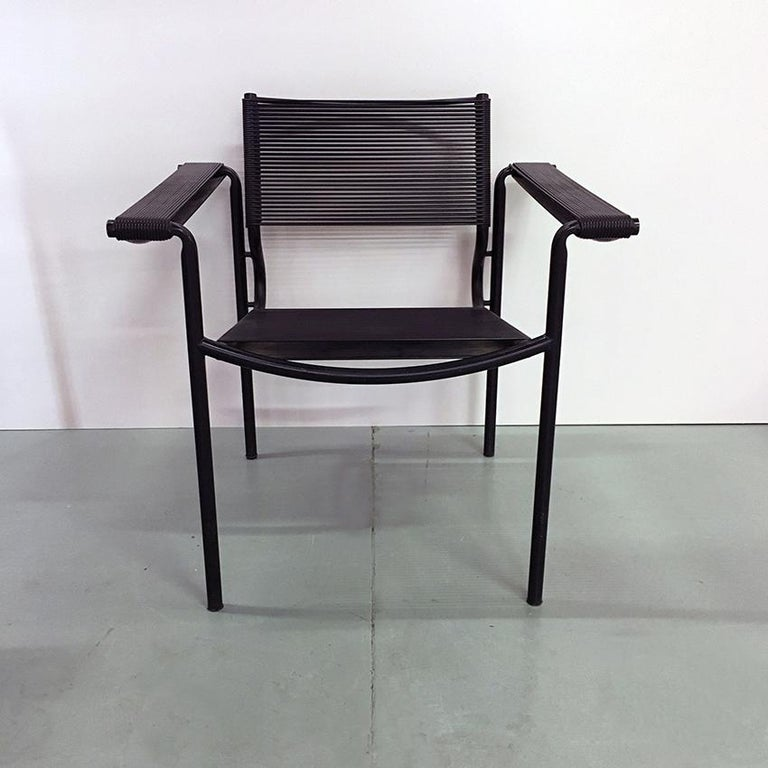 Set of Two Black Scooby Armchair by Giandomenico Belotti for Alias, 1970s In Good Condition For Sale In MIlano, IT