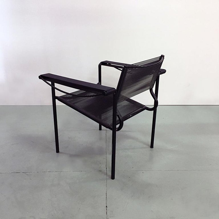 Late 20th Century Set of Two Black Scooby Armchair by Giandomenico Belotti for Alias, 1970s For Sale