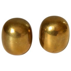 Set of Two Brass Piet Hein Super Egg by Henning Glahn / Danks Design, Denmark