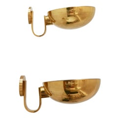Set of Two Brass Wall Lamps or Sconces by Florian Schulz, 1970s, Germany