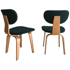 Set of Two Cees Braakman Dining Chairs for Pastoe, Model SB02, 1950s