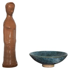 Set of Two Ceramic by Pierre Roulot, France, 1950s