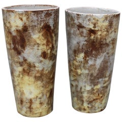 Set of Two Ceramic Vases by Alexandre Kostanda, circa 1960s