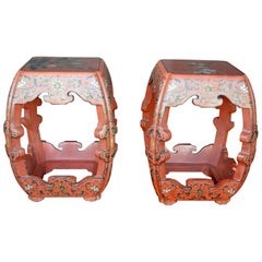 Set of Two Chinese Sidetables