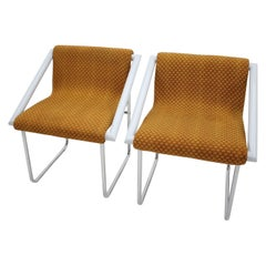 Set of Two Chrome Lounge Chairs, 1960s