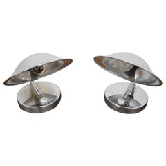 Set of Two Chrome Table Lamp, 1960s