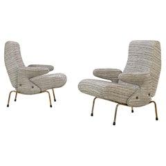 "Set of Two Club Chairs ""Delfino"" by Erberto Carboni for Arflex, 1950s"