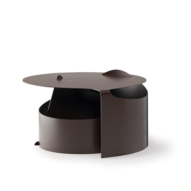 Mid-Century Modern Set of Two Coffee Tables, Rolle Steel designed by Aldo Bakker For Sale