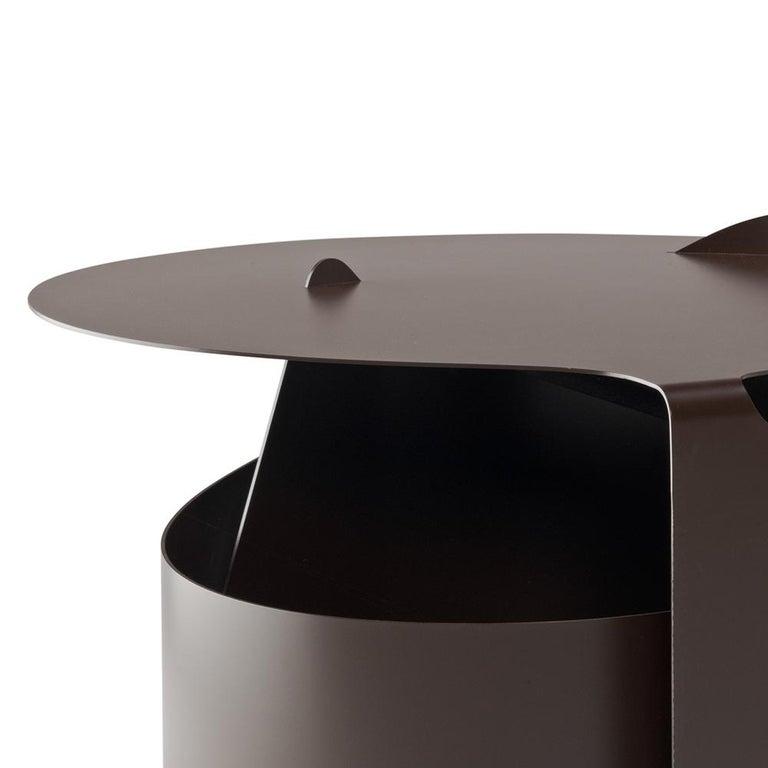 Danish Set of Two Coffee Tables, Rolle Steel designed by Aldo Bakker For Sale