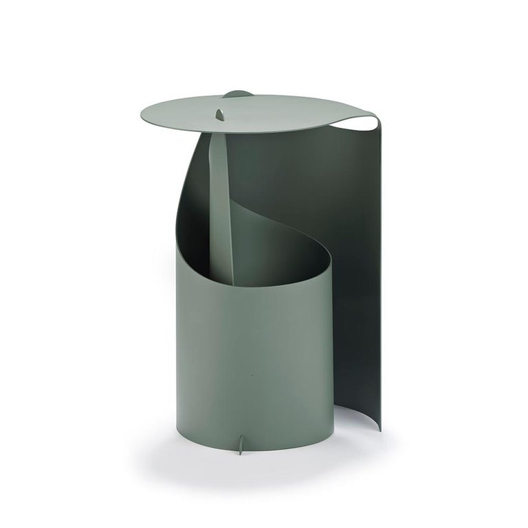 Contemporary Set of Two Coffee Tables, Rolle Steel designed by Aldo Bakker For Sale