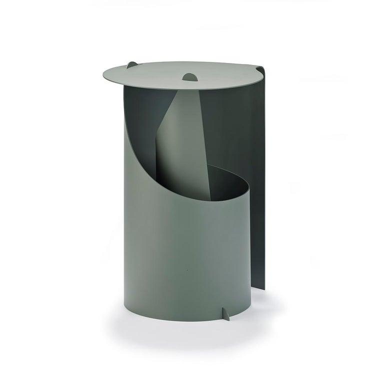 Set of Two Coffee Tables, Rolle Steel designed by Aldo Bakker For Sale 1