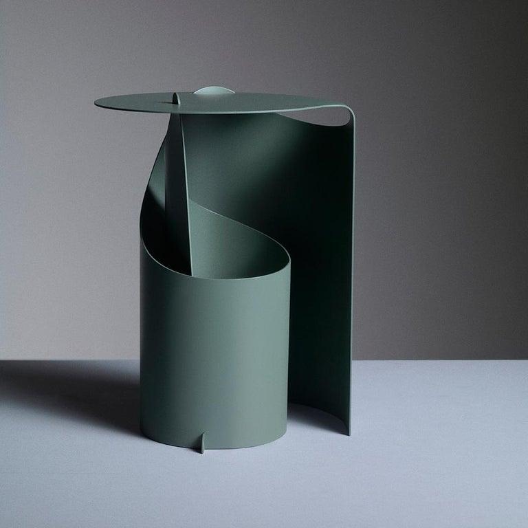 Set of Two Coffee Tables, Rolle Steel designed by Aldo Bakker For Sale 3