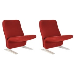 Mid-Century Modern Pair of Concorde Easy Chairs by Pierre Paulin for Artifort