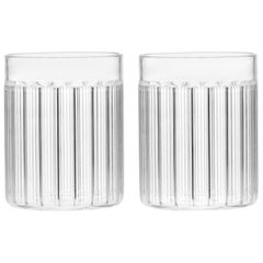 Set of Two Contemporary Czech Minimal Bessho Tumbler Glasses Handmade, in Stock