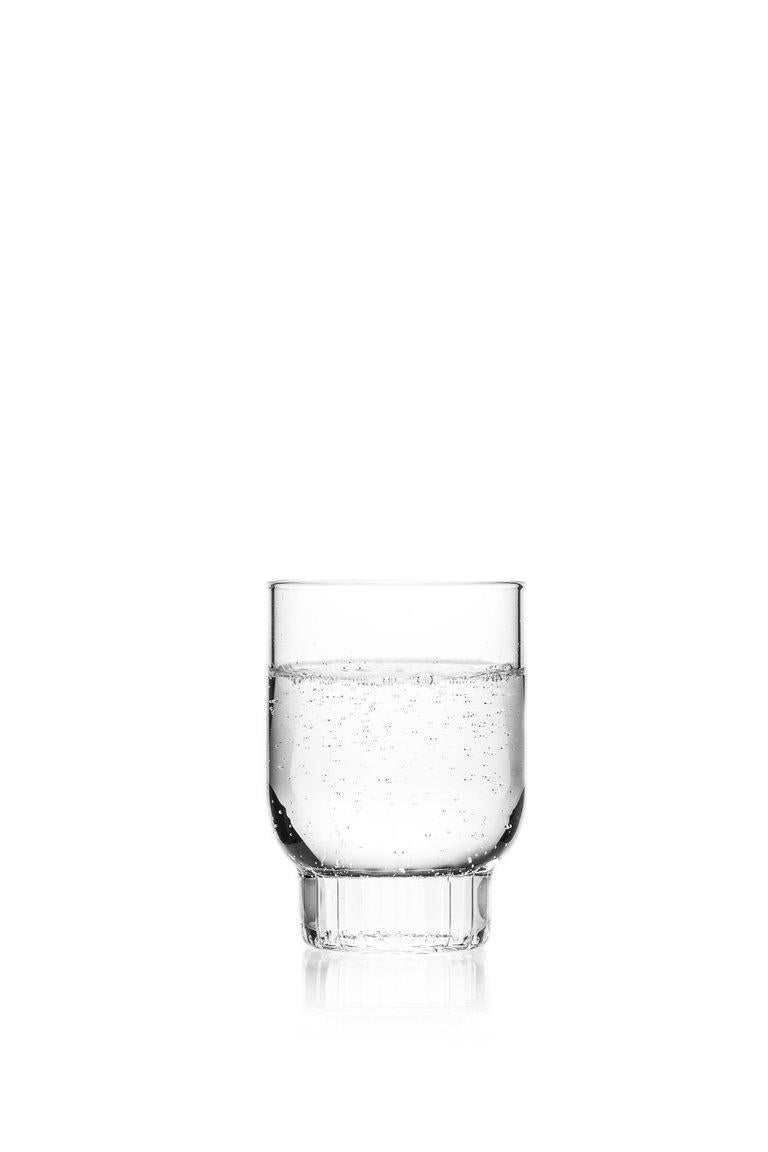 Modern EU Clients Set of Two Czech Contemporary Rasori Medium Water Glasses, in Stock For Sale