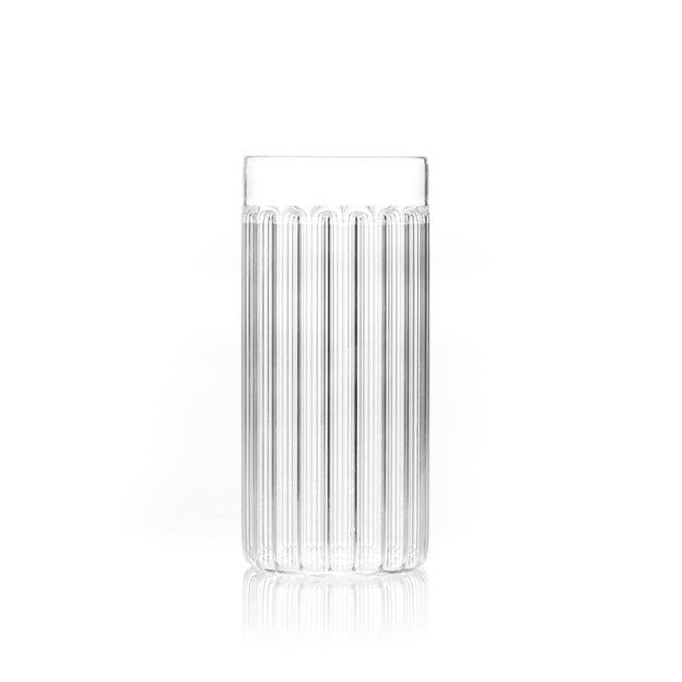 Modern EU Clients Set of Two Czech Contemporary Bessho Tall/Collins Glasses, in Stock For Sale