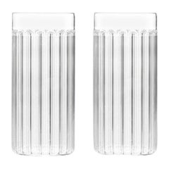 EU Clients Set of Two Czech Contemporary Bessho Tall/Collins Glasses, in Stock