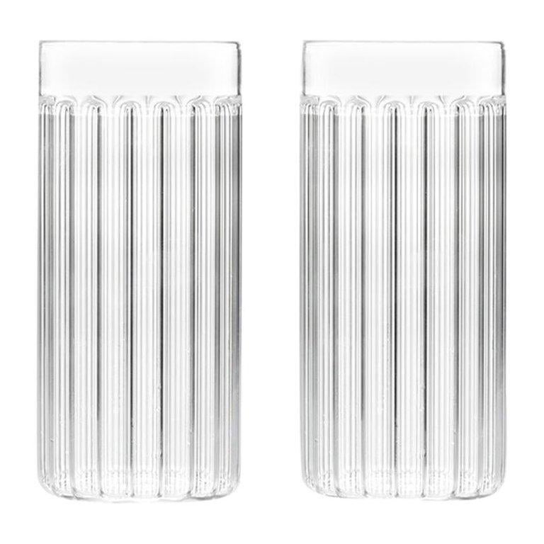 EU Clients Set of Two Czech Contemporary Bessho Tall/Collins Glasses, in Stock For Sale