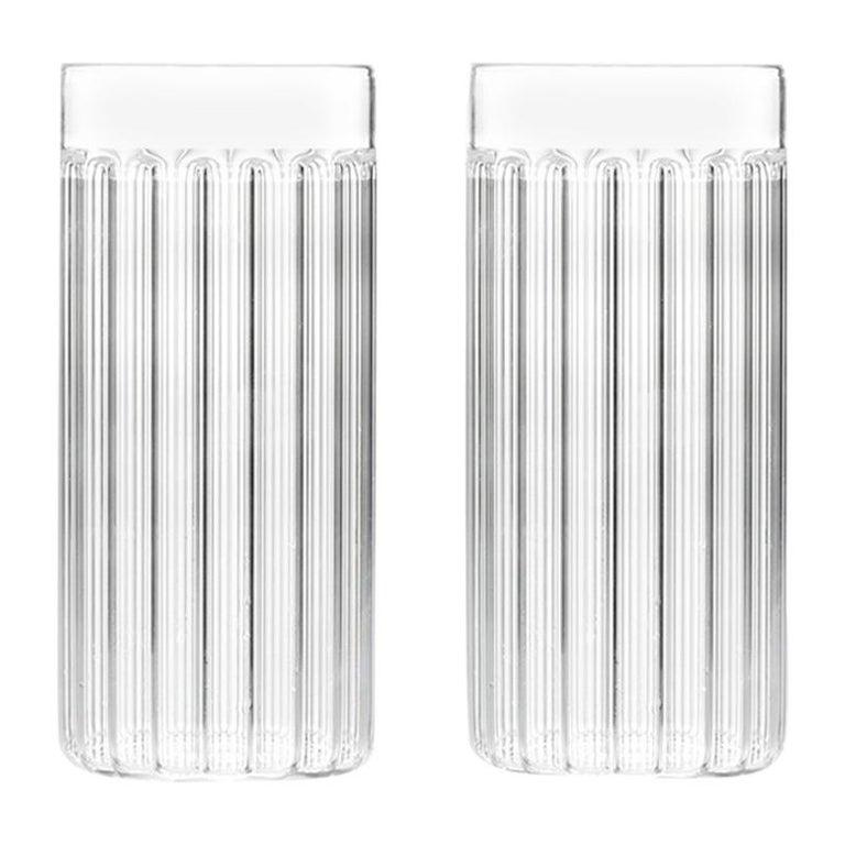 Set of two Felicia Ferrone Bessho glasses, new