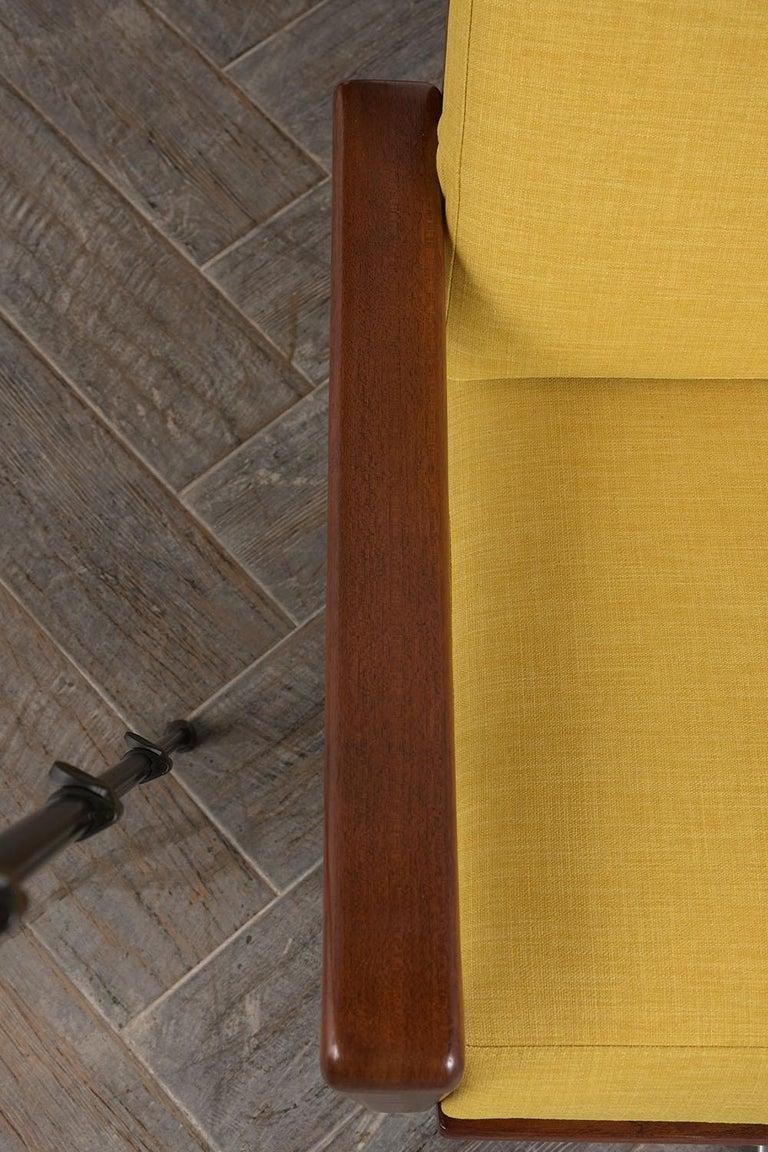Steel Pair of Modern Danish Swivel Lounge Chairs For Sale