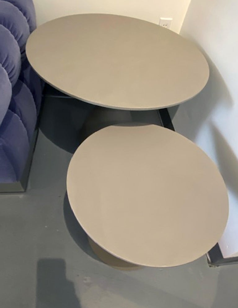 Set of Two Desalto Mini Clay Side Tables by Marc Krusin For Sale 3