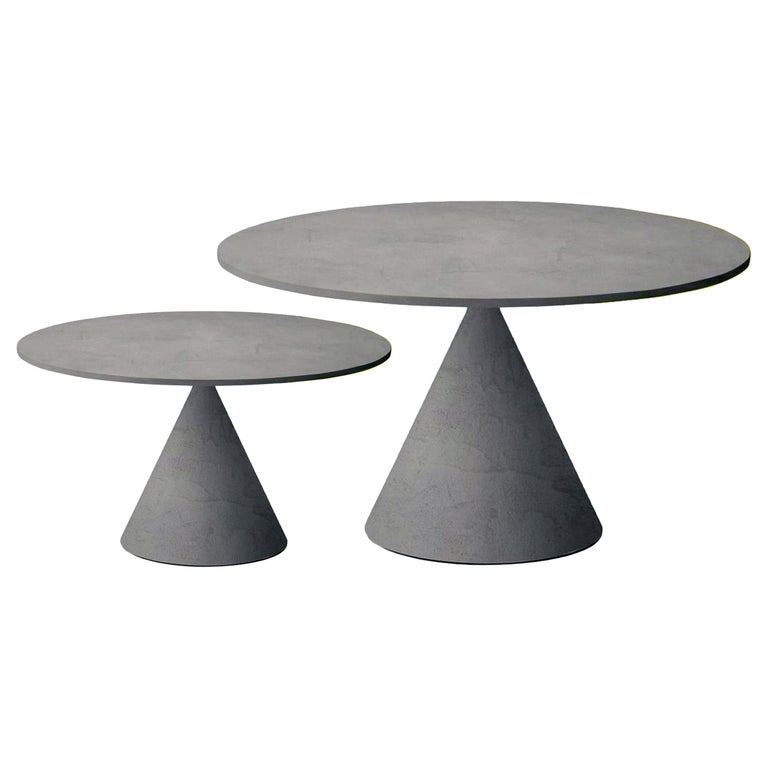 Set of Two Desalto Mini Clay Side Tables by Marc Krusin For Sale