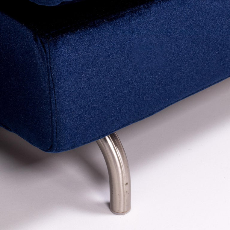 Set of Two Dubuffet Navy Lounge Chairs by Rodolfo Dordoni for Minotti For Sale 4