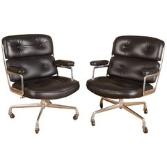 Set of Two Eames 'Time-Life' Executive Chairs for Herman Miller