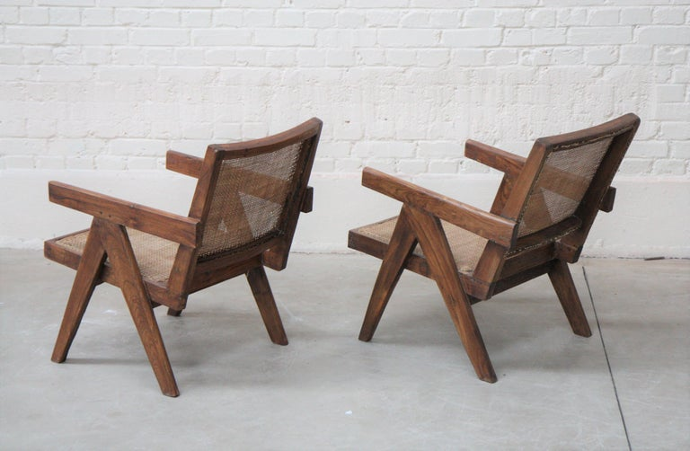 Teak Set of Two 'Easy Armchairs' Circa 1955 by Pierre Jeanneret '1896-1967' For Sale