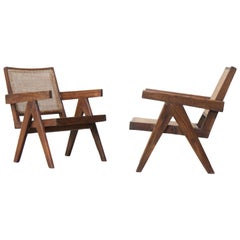 Set of Two 'Easy Armchairs' Circa 1955 by Pierre Jeanneret '1896-1967'