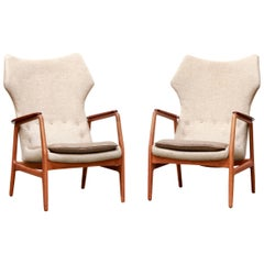 Set of Two Easy Chairs by Aksel Bender Madsen for Bovenkamp, circa 1950