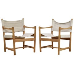 Set of Two Easy Chairs by Ditte and Adrian Heath for FDB Møbler, Denmark, 1960s