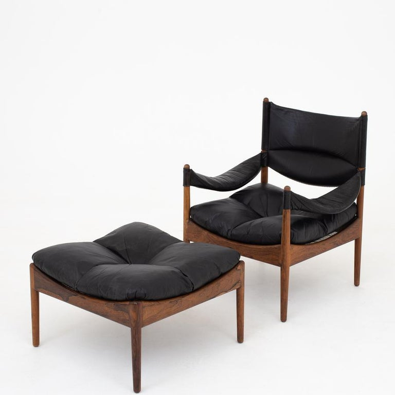 Rosewood Set of Two Easy Chairs by Kristian Vedel