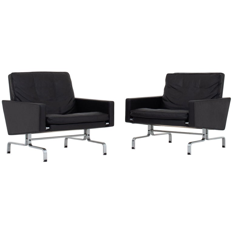 Set of Two Easy Chairs by Poul Kjærholm For Sale