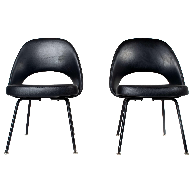Set of Two Eero Saarinen Executive Chairs for Knoll De Coene, Belgium, 1950s