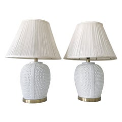 Set of Two Exceptional Mid-Century Modern Ceramic Table Lamps, 1960s, Germany