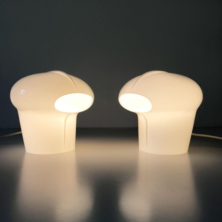 Set of Two Exceptional Table Lamps by Gino Vistosi for Vistosi, Murano, 1970s For Sale 8