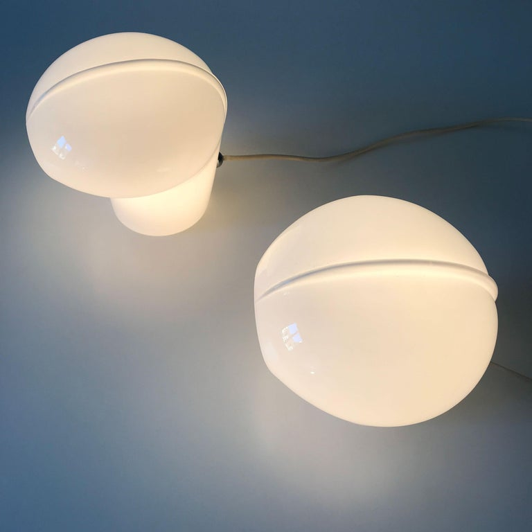 Set of Two Exceptional Table Lamps by Gino Vistosi for Vistosi, Murano, 1970s For Sale 9