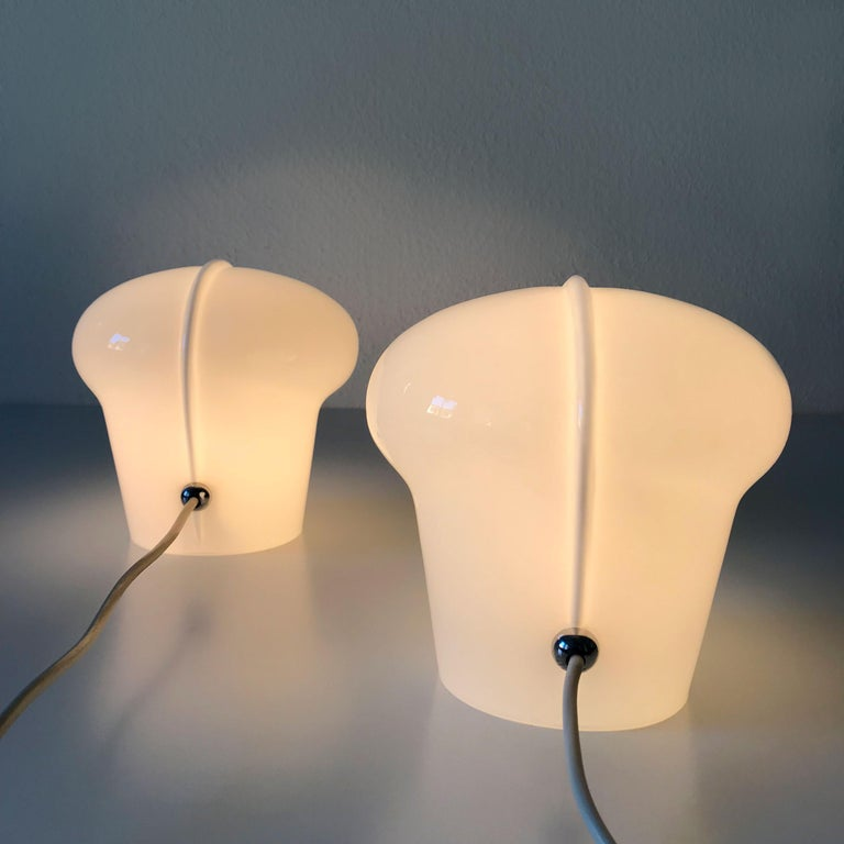 Late 20th Century Set of Two Exceptional Table Lamps by Gino Vistosi for Vistosi, Murano, 1970s For Sale