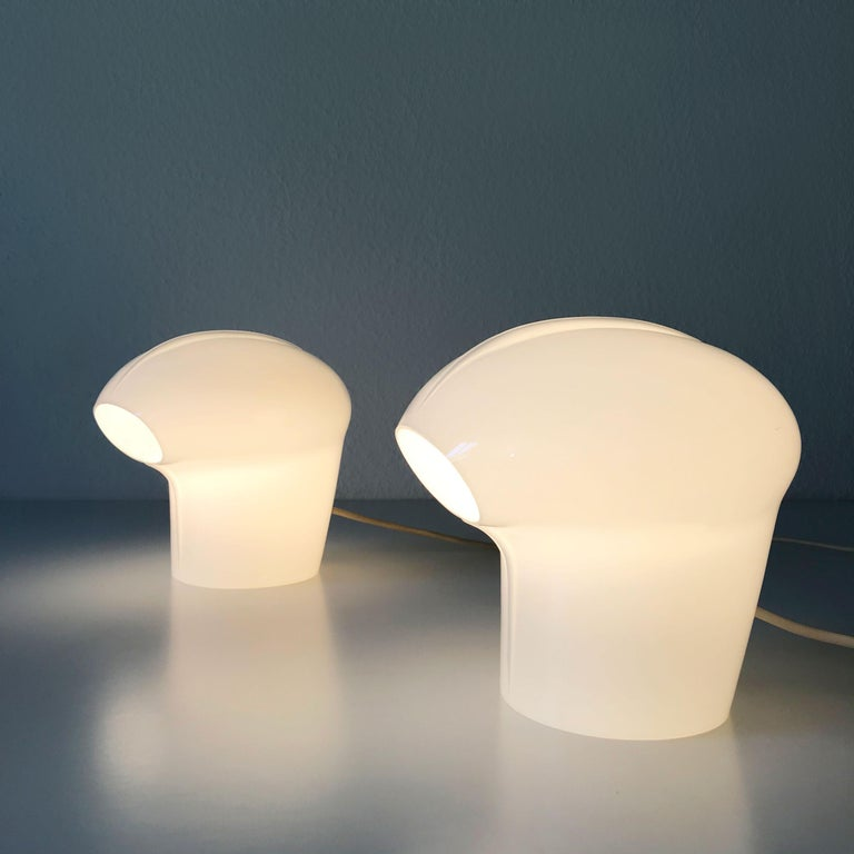 Set of Two Exceptional Table Lamps by Gino Vistosi for Vistosi, Murano, 1970s For Sale 1