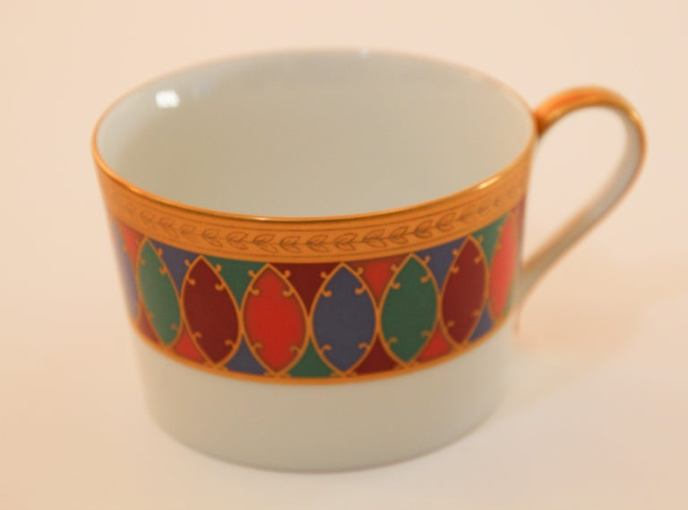 Empire Set of Two Faberge Porcelain Tea, Coffee Cups For Sale