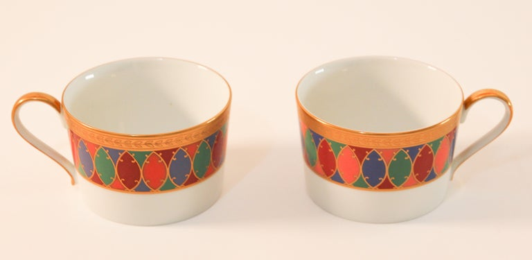 Set of Two Faberge Porcelain Tea, Coffee Cups For Sale 2