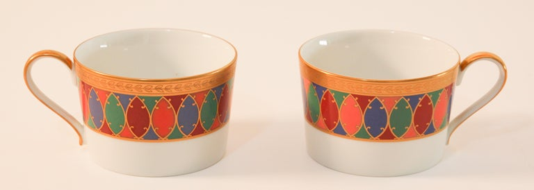 Set of Two Faberge Porcelain Tea, Coffee Cups For Sale 3
