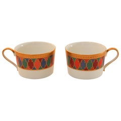 Set of Two Faberge Porcelain Tea, Coffee Cups