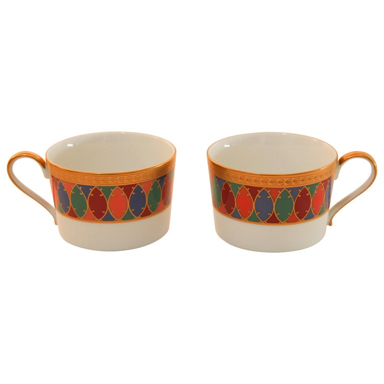 Set Of Two Faberge Porcelain Tea Coffee Cups For Sale At 1stdibs