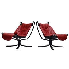 Set of Two Falcon Easy Chairs by Sigurd Ressell for Vatne Møbler, 1970s