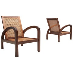 "Set of Two ""Fauteuils De Paquebot"" Chairs, France, 1950s"