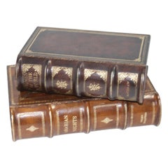 Set of Two Faux Book Boxes